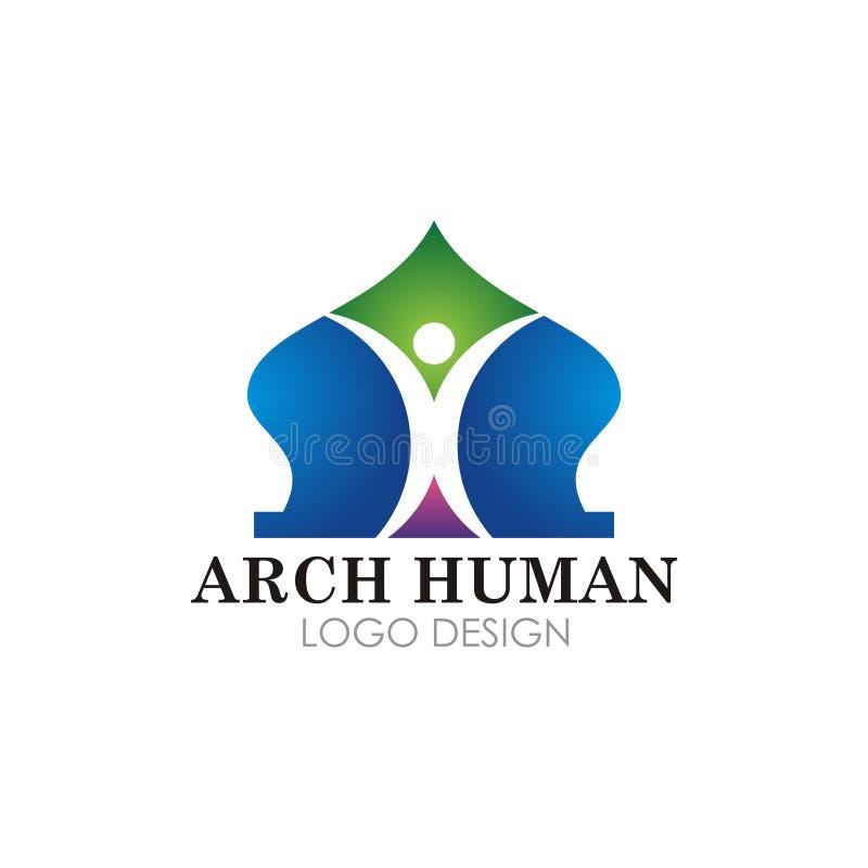 Diseño islámico del vector del logotipo de la mezquita stock de ilustración