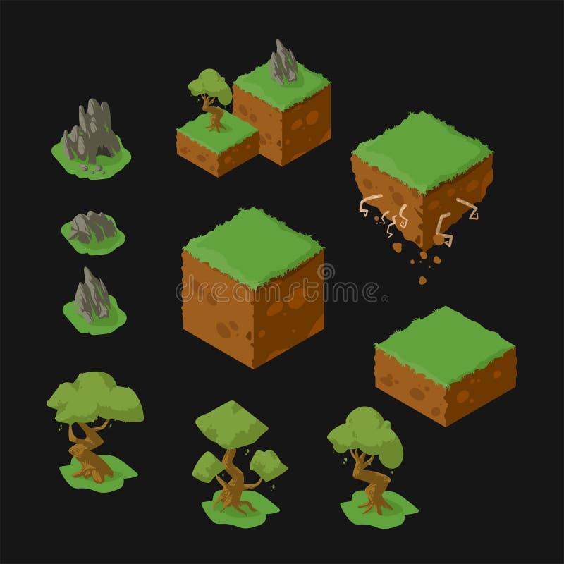diseño isométrico del paisaje ilustración del vector