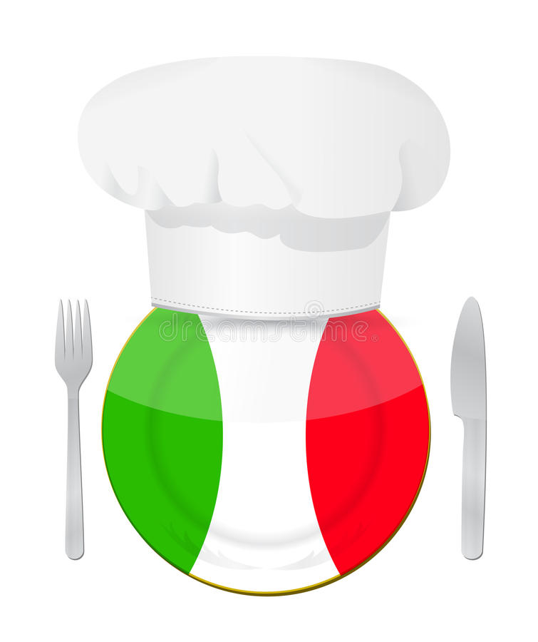 Diseño italiano del ejemplo del concepto de la cocina libre illustration
