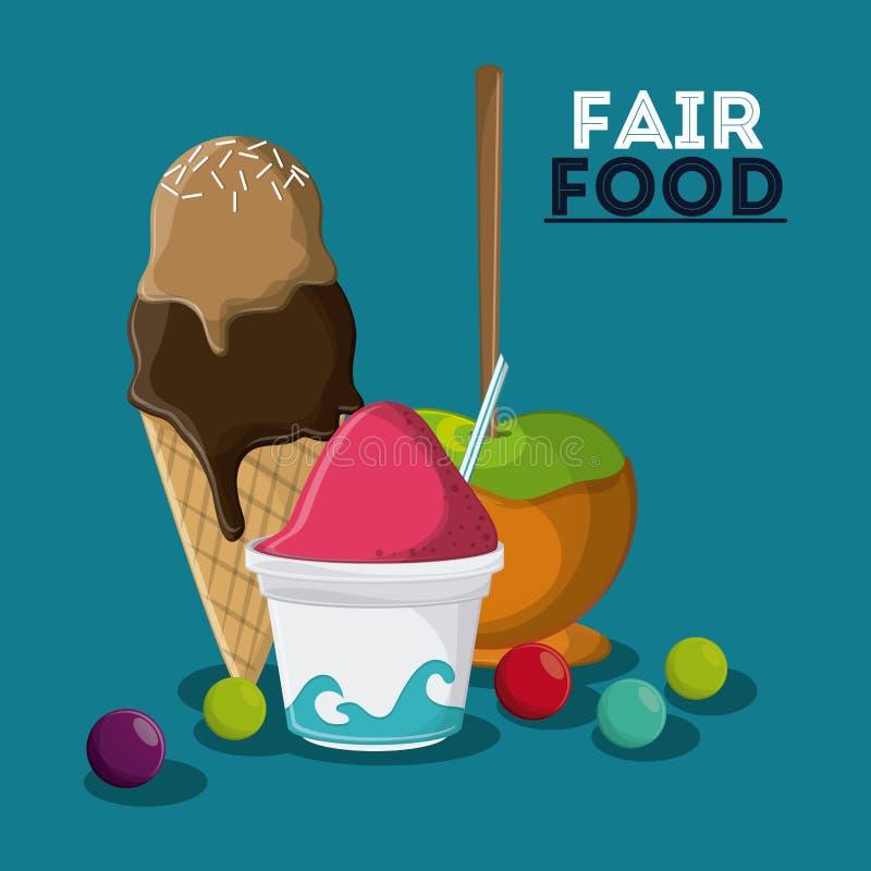 Diseño justo del carnaval del bocado de la comida ilustración del vector