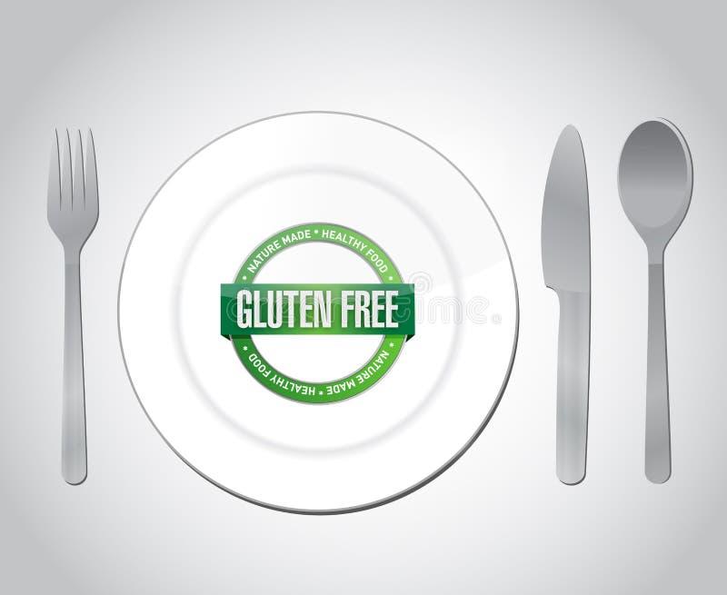 Diseño libre del ejemplo de la comida del gluten libre illustration
