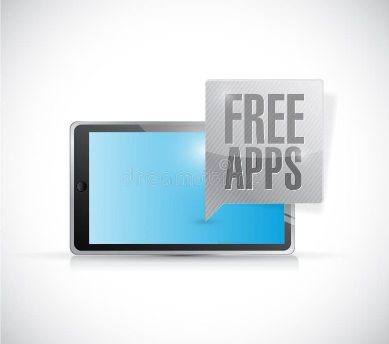 Diseño libre del ejemplo del mensaje de los apps de la tableta ilustración del vector