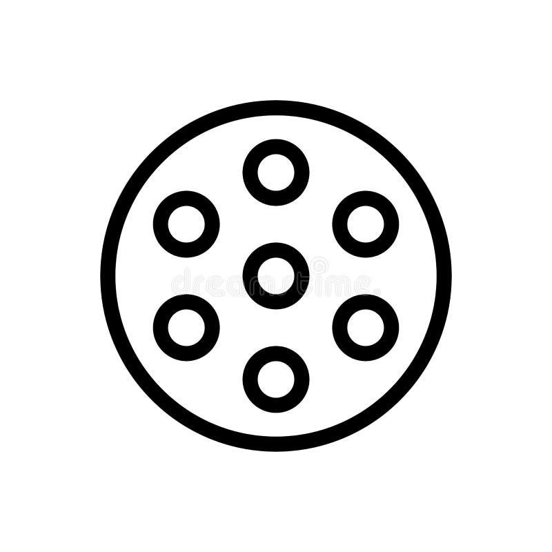 Diseño ligero del icono de la lámpara de la cirugía línea ejemplo médico del vector de la atención sanitaria del arte stock de ilustración
