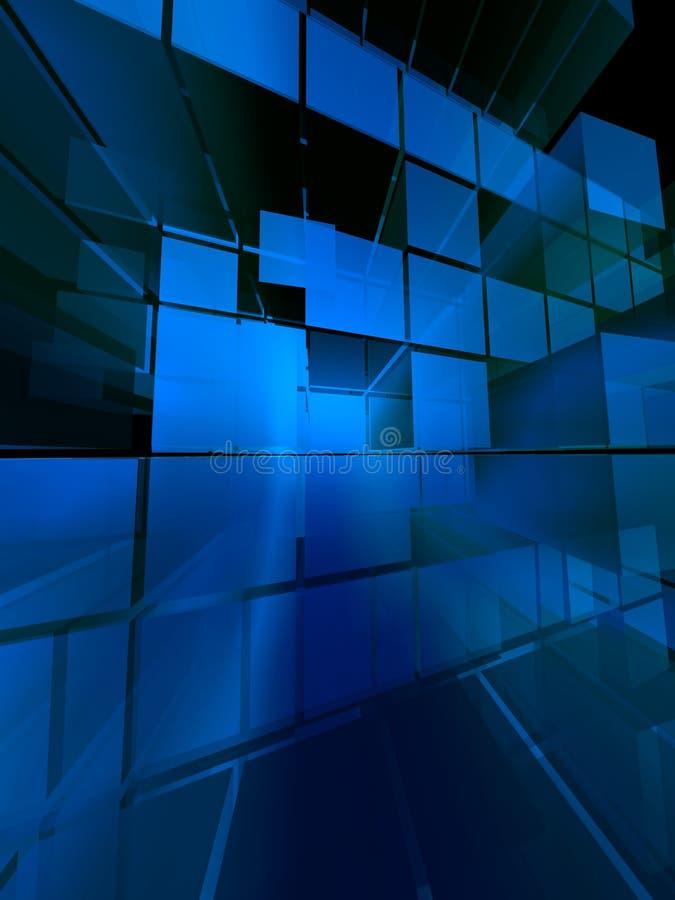 Diseño limpio azul del estilo ilustración del vector