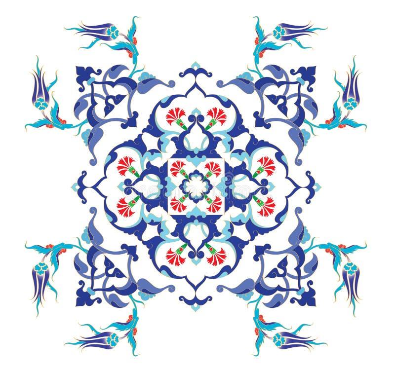 Diseño limpio del otomano tradicional ilustración del vector