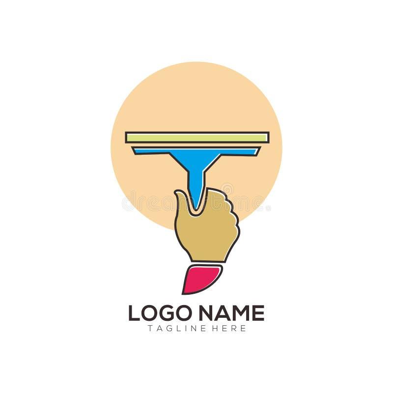 Diseño limpio y del mantenimiento del logotipo del icono libre illustration
