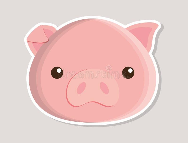 Diseño lindo animal del cerdo pequeño stock de ilustración