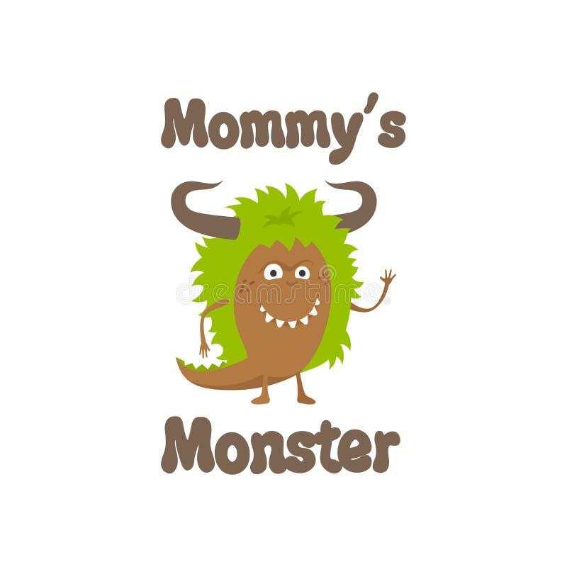 Diseño lindo de la impresión del monstruo de Mommys libre illustration