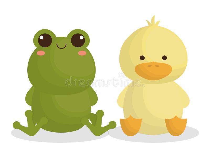 Diseño lindo de los animales stock de ilustración