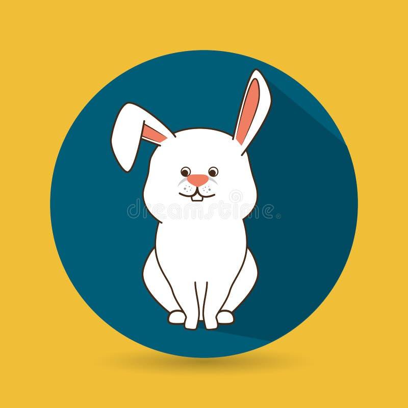 diseño lindo de los animales domésticos ilustración del vector