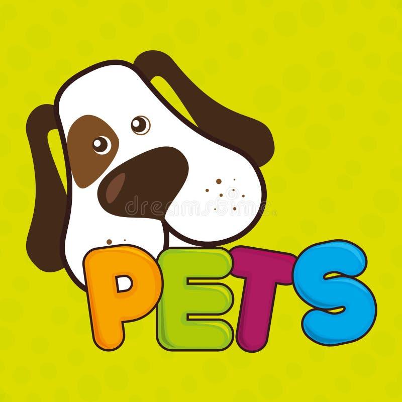 diseño lindo de los animales domésticos libre illustration