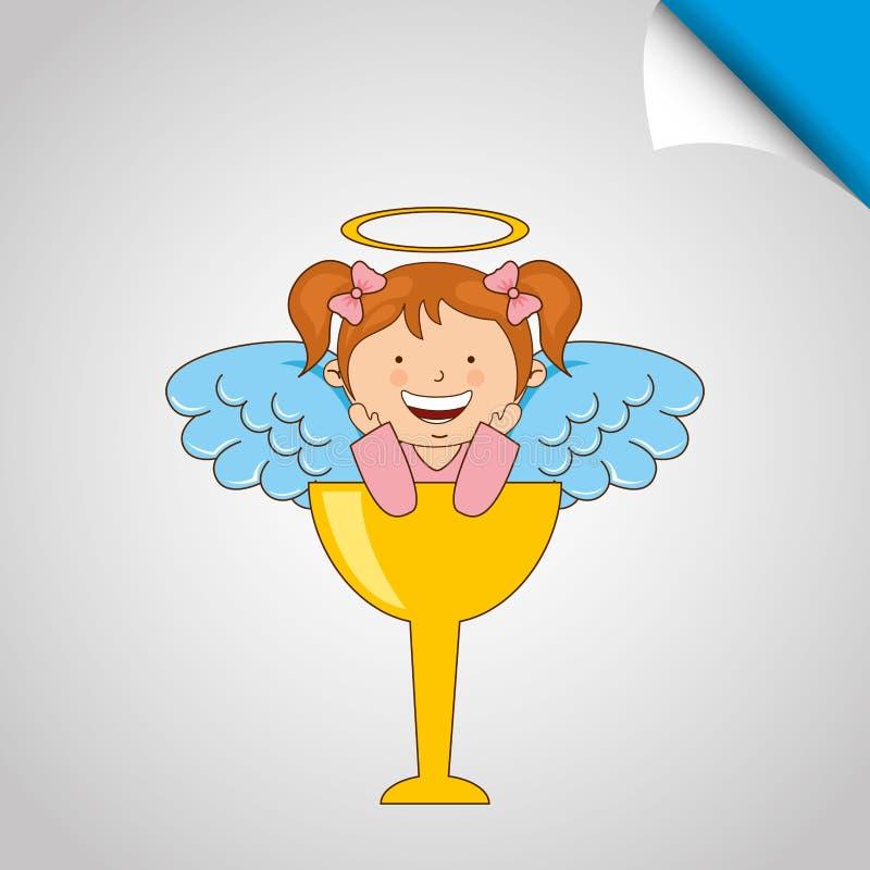 diseño lindo del ángel libre illustration