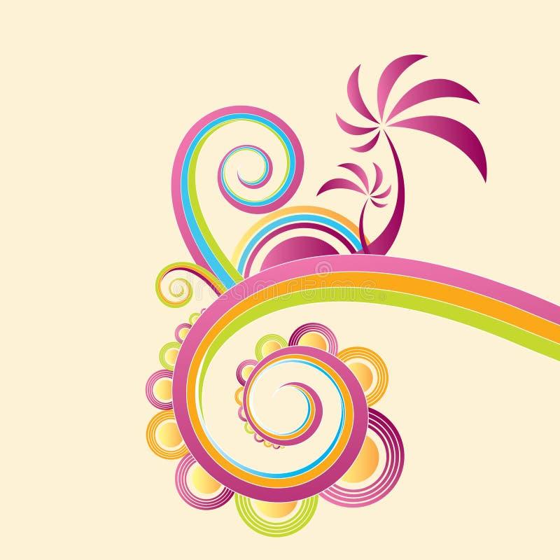 Diseño loco abstracto del verano libre illustration