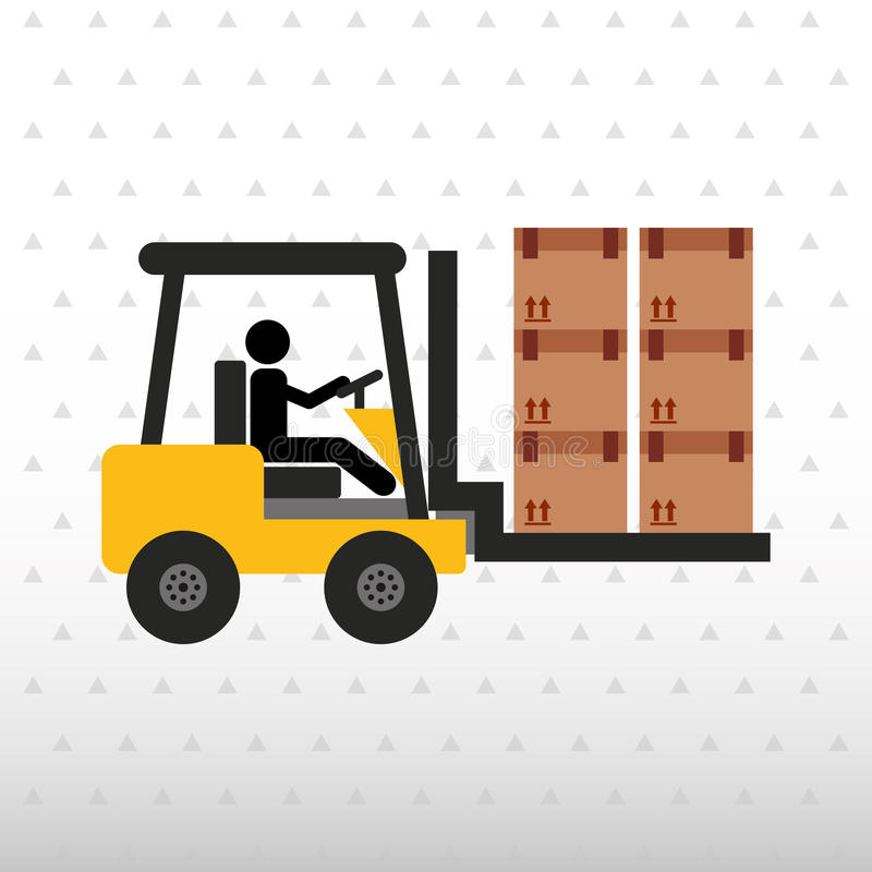 diseño logístico del servicio libre illustration