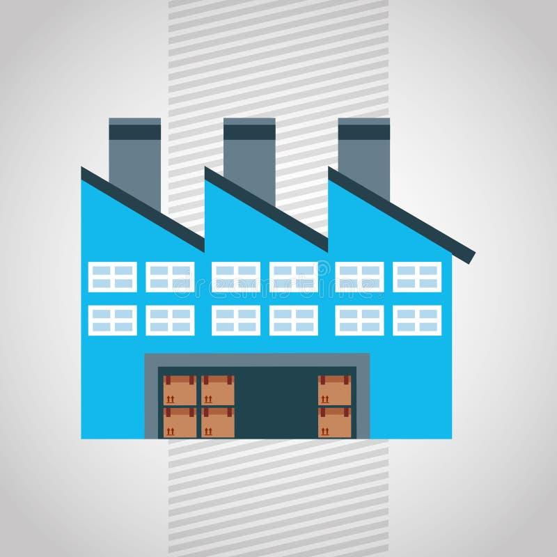 diseño logístico del servicio ilustración del vector