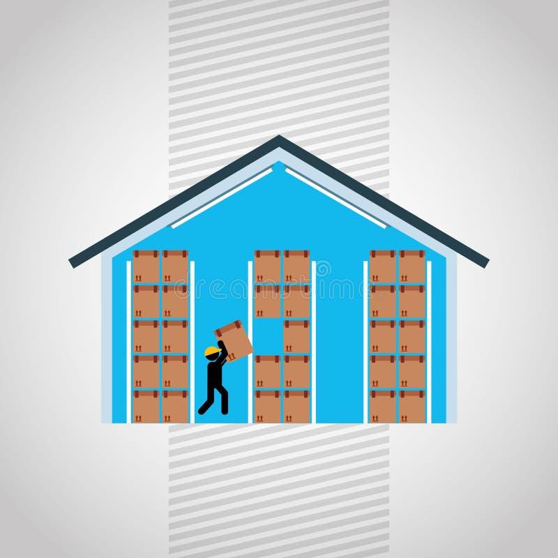 diseño logístico del servicio stock de ilustración