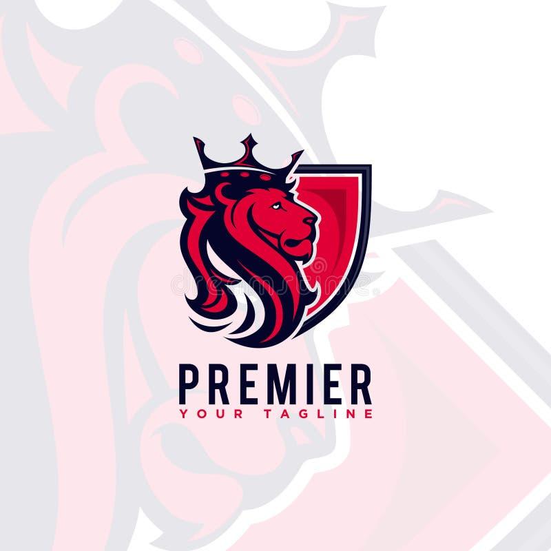 Diseño Logo Lion King ilustración del vector