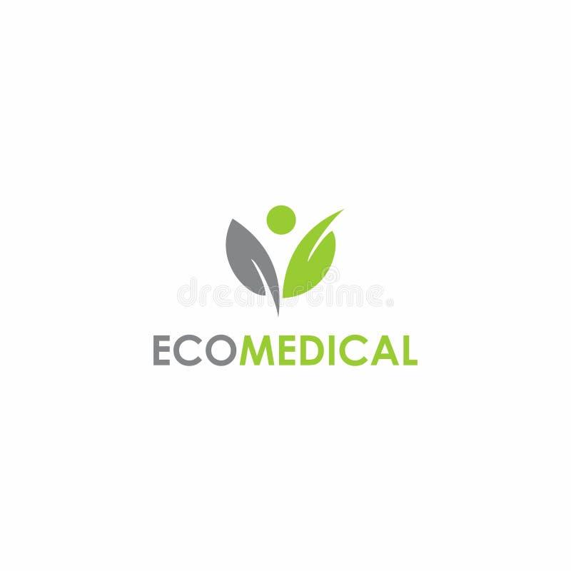 Diseño médico del logotipo de Eco stock de ilustración