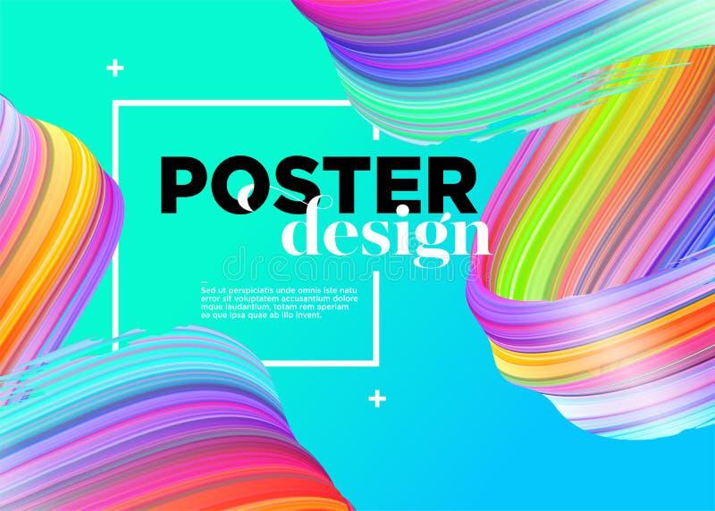 Diseño mínimo abstracto del cartel Fondo del vector libre illustration