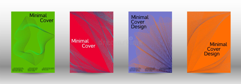 Diseño mínimo de las cubiertas del vector ilustración del vector