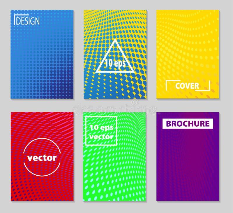 Diseño mínimo de las cubiertas del vector Pendientes de semitono frescas Futuro Po libre illustration