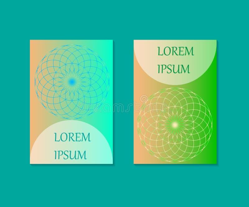 Diseño mínimo de las cubiertas Flor de la vida Geometría sagrada Símbolo de la mandala Ilustración del vector EPS 10 ilustración del vector
