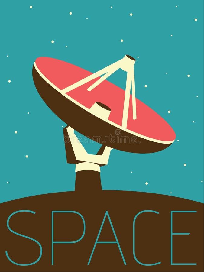 Diseño mínimo del vector - espacio Antenne - ejemplo stock de ilustración
