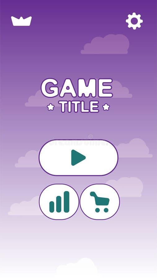 Diseño móvil del GUI del juego de la acción del vector libre illustration