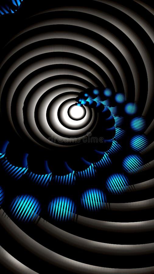 Diseño móvil del papel pintado de la geometría del fractal stock de ilustración