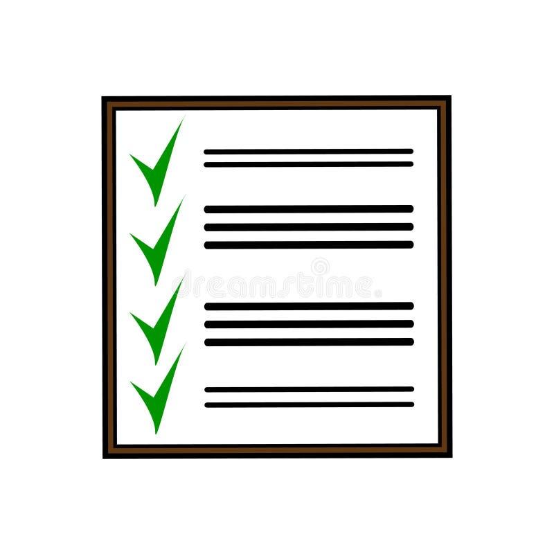 Diseño maravilloso de una tabla negra con tareas terminadas ilustración del vector