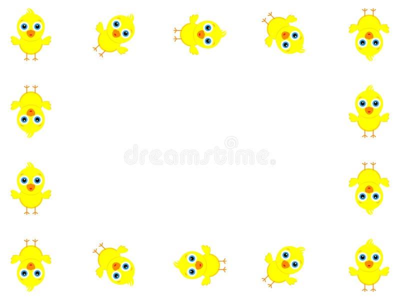 Diseño maravilloso del fondo creado de muchos pequeños polluelos amarillos stock de ilustración