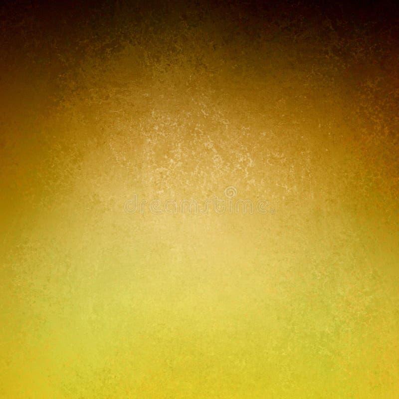 Diseño marrón abstracto de la textura del fondo del grunge del vintage del fondo del oro de pintura antigua elegante en el ejemplo foto de archivo libre de regalías