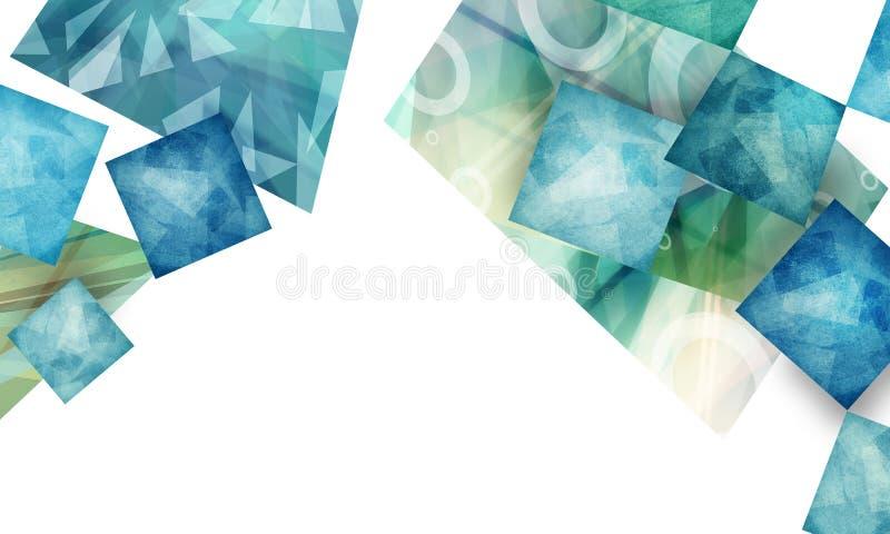 Diseño material abstracto con capas de polígonos texturizados en el fondo blanco ilustración del vector