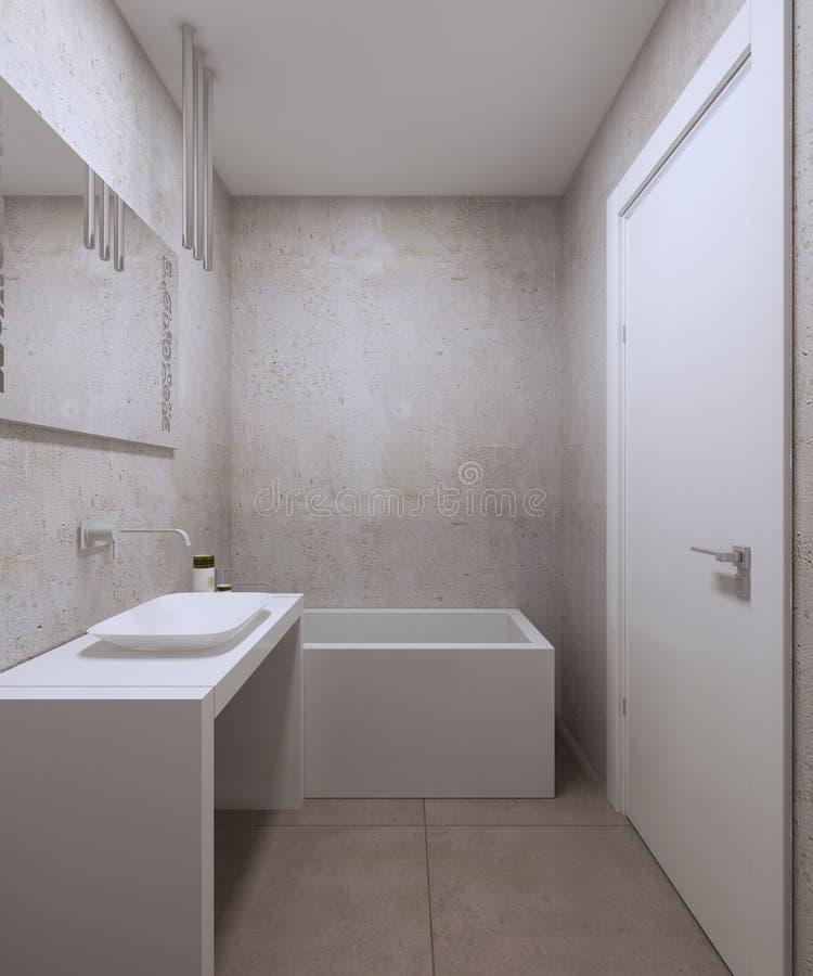 Diseño minimalista del cuarto de baño libre illustration