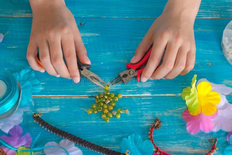 diseño, modelo, mano, hecha, mandala, hilo, agremán, objeto, l foto de archivo libre de regalías