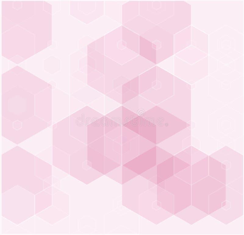 Diseño moderno abstracto de la textura del hexágono de la tecnología Fondo del vector stock de ilustración