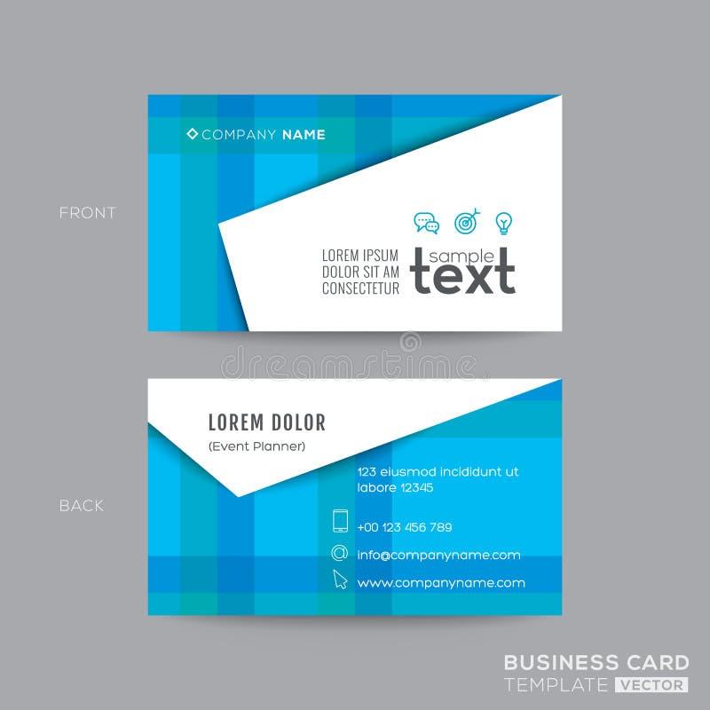 Diseño moderno azul de la tarjeta de visita stock de ilustración