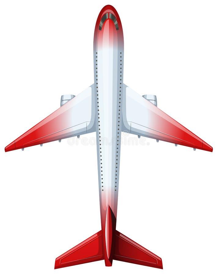 Diseño moderno de avión ilustración del vector