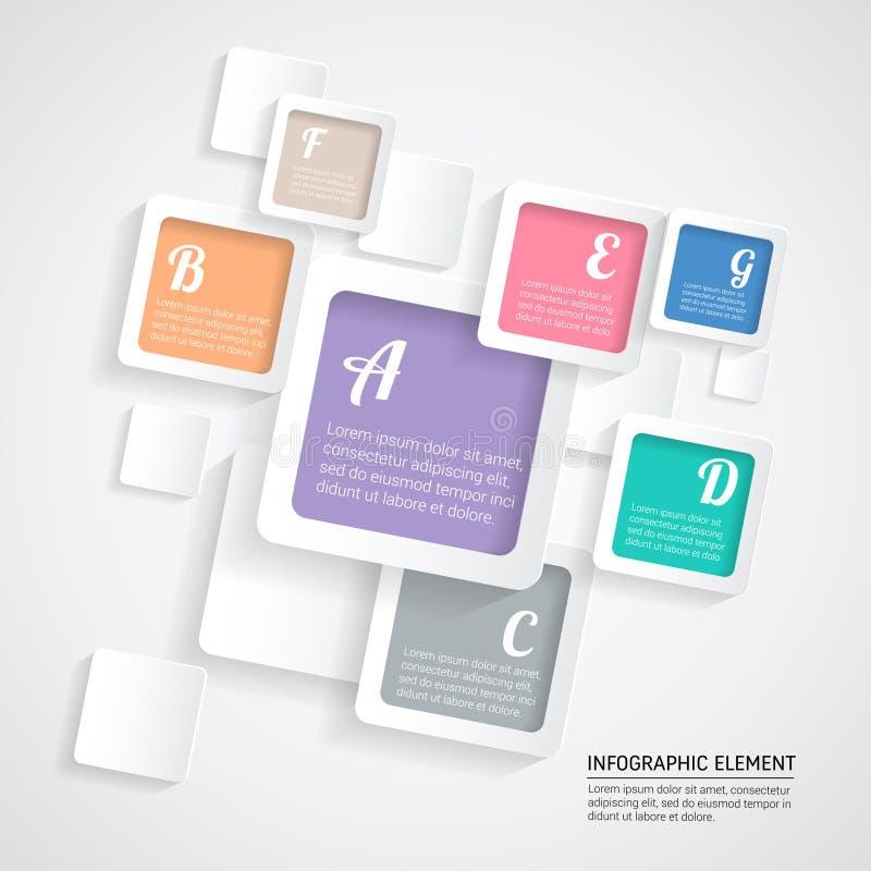 Diseño moderno de Infographic del capítulo stock de ilustración