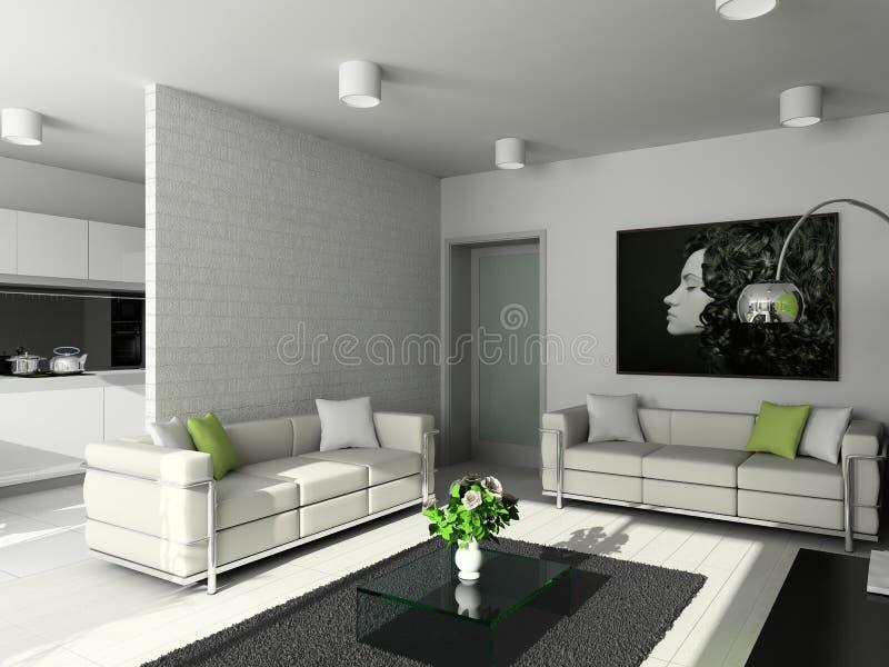Diseño moderno de interior fotos de archivo libres de regalías