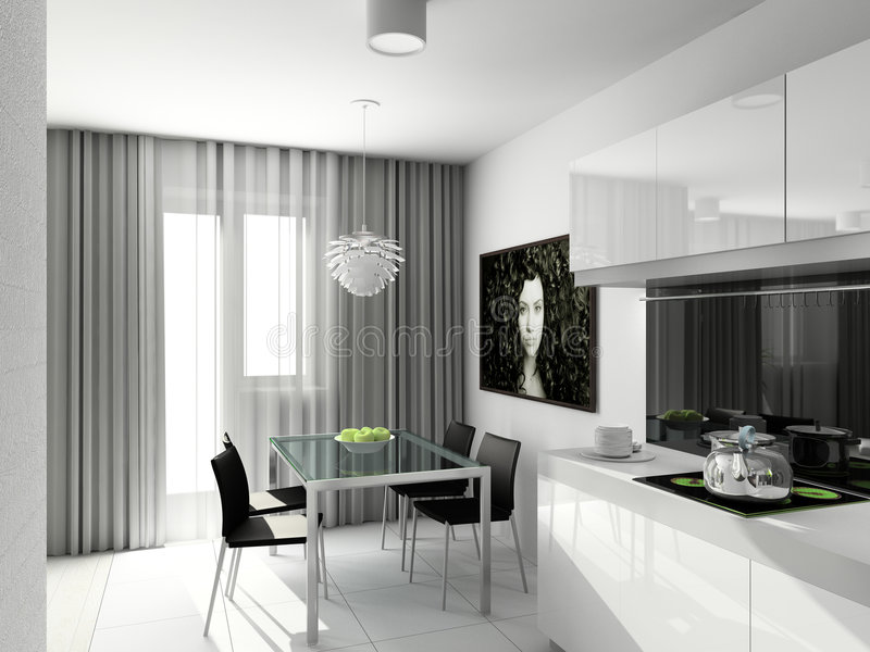 Diseño moderno de interior fotografía de archivo