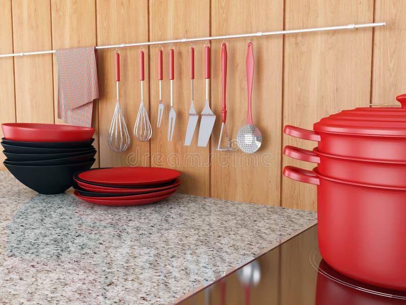 Diseño moderno de la cocina fotos de archivo