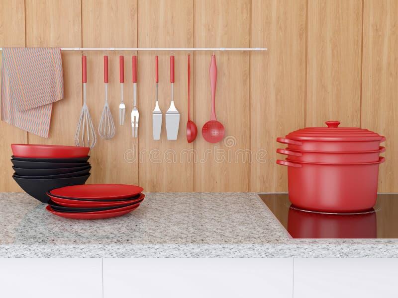 Diseño moderno de la cocina fotos de archivo libres de regalías