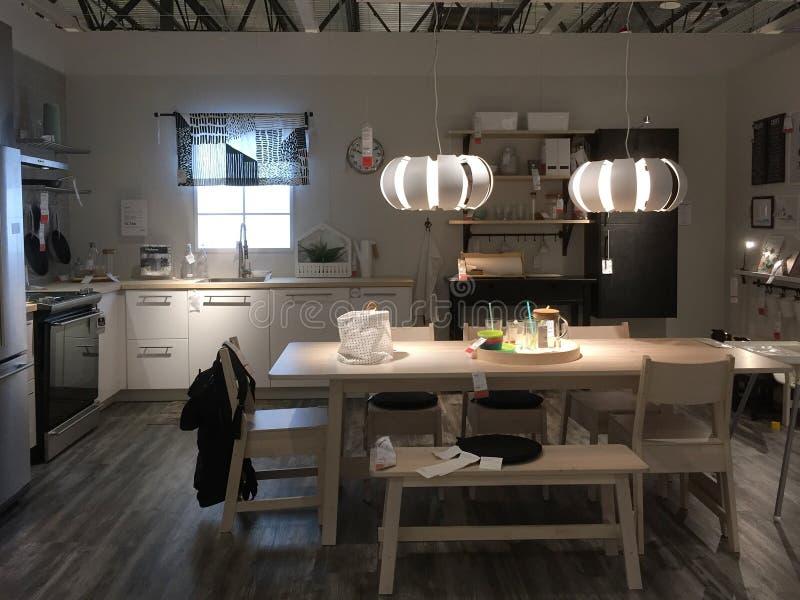 Diseño Moderno De La Cocina En La Tienda IKEA Foto editorial ...