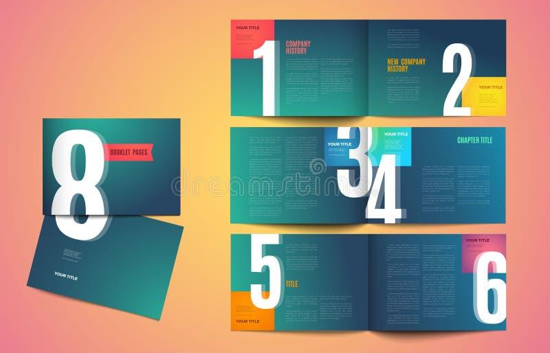 Diseño moderno de la plantilla de la cartera del vector stock de ilustración
