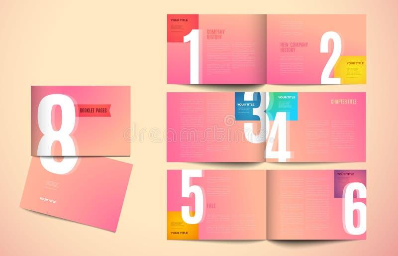 Diseño moderno de la plantilla del catálogo del vector libre illustration