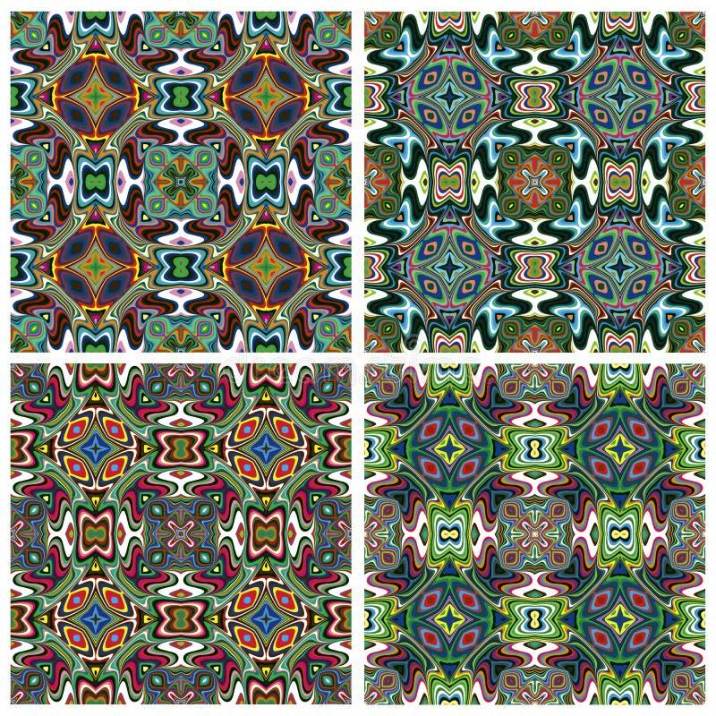 Diseño moderno de Textil del indio stock de ilustración