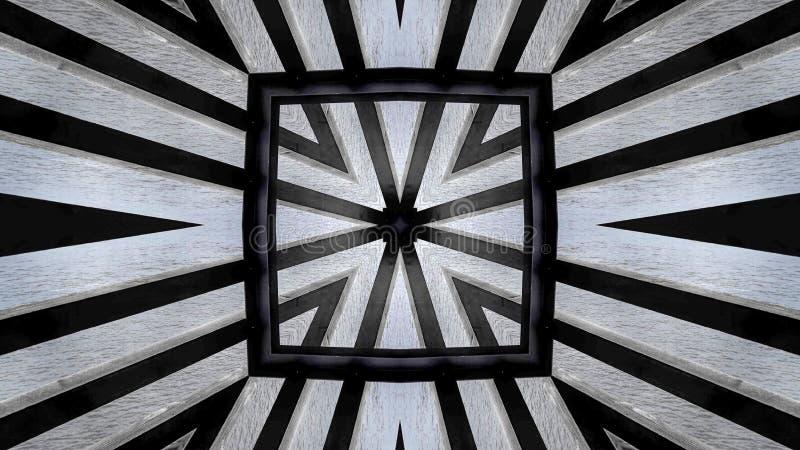 Diseño moderno de una estructura de madera stock de ilustración