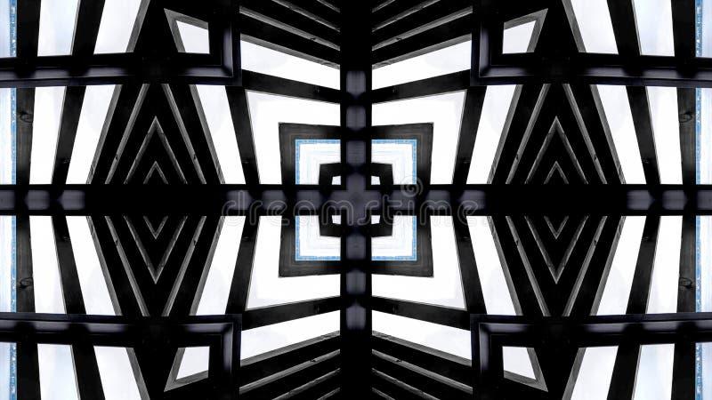 Diseño moderno de una estructura de madera ilustración del vector