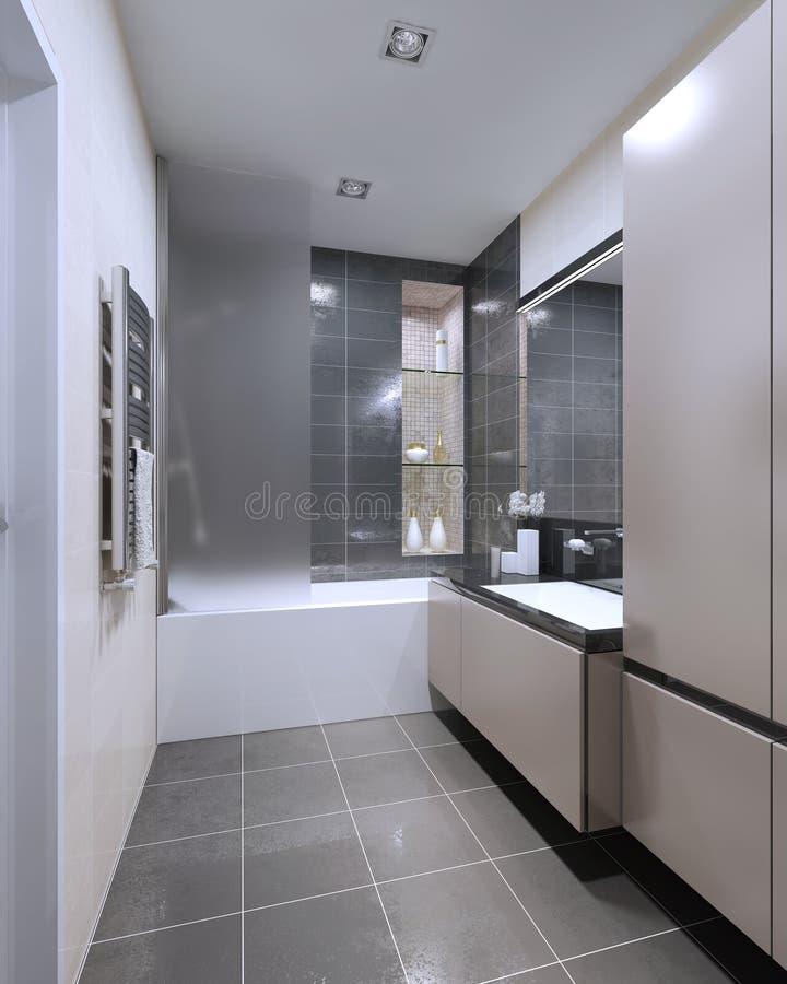 Diseño moderno del cuarto de baño stock de ilustración